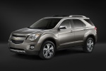 Picture of a 2014 Chevrolet Equinox in Silver Ice Metallic from a front left three-quarter perspective