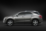 Picture of a 2014 Chevrolet Equinox in Silver Ice Metallic from a side perspective