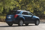 Picture of a 2016 Chevrolet Equinox LT in Blue Velvet Metallic from a rear right three-quarter perspective