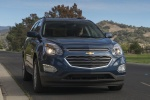 Picture of a 2017 Chevrolet Equinox LT in Blue Velvet Metallic from a frontal perspective