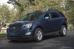 Picture of a 2017 Chevrolet Equinox LT in Blue Velvet Metallic from a front left three-quarter perspective