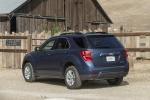 Picture of a 2017 Chevrolet Equinox LT in Blue Velvet Metallic from a rear left three-quarter perspective