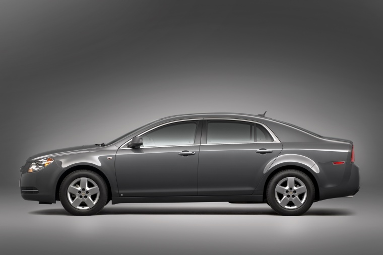 2010 Chevrolet Malibu LS in Taupe Gray Metallic from a side view