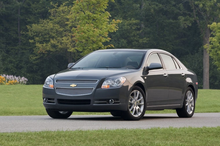 2010 Chevrolet Malibu LTZ in Taupe Gray Metallic from a front left view