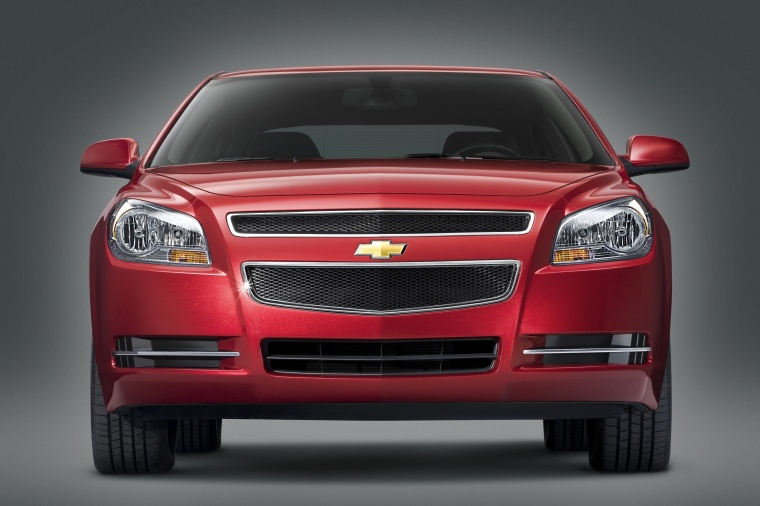 2010 Chevrolet Malibu LT in Red Jewel Tintcoat from a frontal view