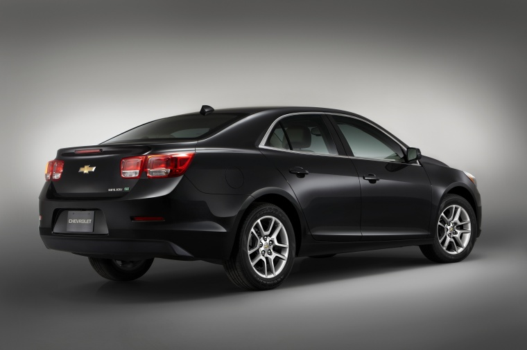 2013 Chevrolet Malibu Eco In Black Color Static Rear
