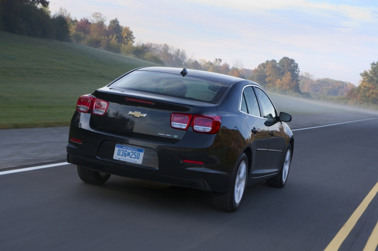 2013 Chevrolet Malibu Eco In Black Color Driving Rear
