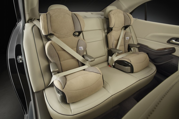 2013 Chevrolet Malibu Eco Rear Child Seats In Cashmere Light Neutral Color Picture Image
