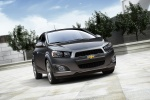 2012 Chevrolet Sonic Sedan in Cyber Gray Metallic - Static Front Right View
