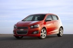 Picture of 2012 Chevrolet Sonic Hatchback in Victory Red / Summit White