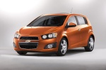 2013 Chevrolet Sonic Hatchback LTZ in Inferno Orange Metallic - Static Front Left View