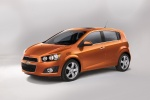2013 Chevrolet Sonic Hatchback LTZ in Inferno Orange Metallic - Static Front Left Three-quarter View