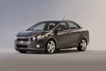 2013 Chevrolet Sonic Sedan in Cyber Gray Metallic - Static Front Left Three-quarter View