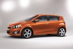 2013 Chevrolet Sonic Hatchback LTZ in Inferno Orange Metallic - Static Side View