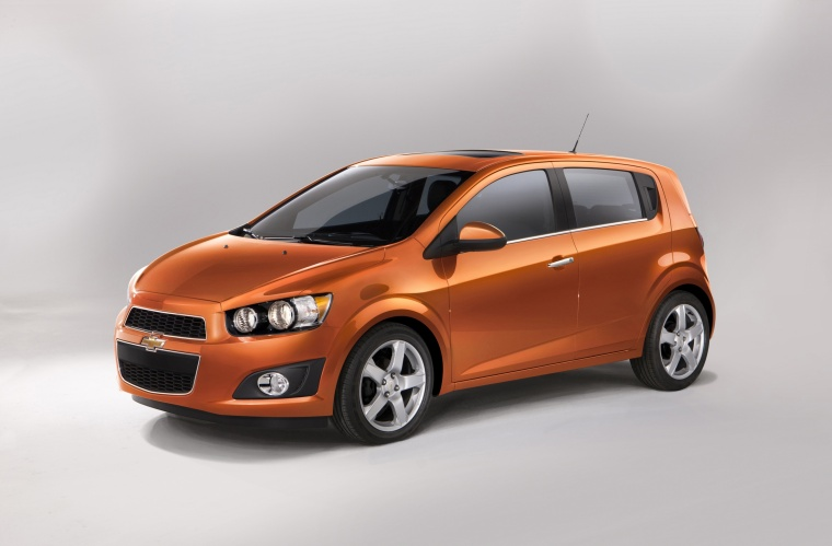 2015 Chevrolet Sonic Hatchback LTZ from a front left three-quarter view