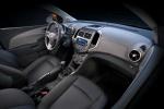 Picture of 2015 Chevrolet Sonic Sedan Front Seats in Jet Black / Dark Titanium