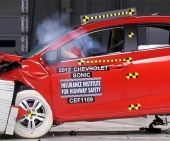 2016 Chevrolet Sonic IIHS Frontal Impact Crash Test Picture