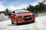 2016 Chevrolet Sonic Hatchback LTZ in Red Hot - Static Front Right Three-quarter View