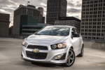 2016 Chevrolet Sonic Sedan RS in Summit White - Static Front Left View