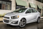 2016 Chevrolet Sonic Sedan RS in Summit White - Static Front Left Three-quarter View