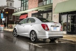 2016 Chevrolet Sonic Sedan RS in Summit White - Static Rear Left Three-quarter View
