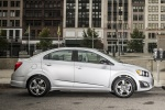 2016 Chevrolet Sonic Sedan RS in Summit White - Static Side View