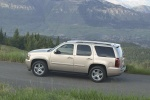 Picture of a 2014 Chevrolet Tahoe LTZ in Champagne Silver Metallic from a side perspective