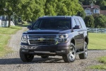 Picture of a 2016 Chevrolet Tahoe LT 4WD Z71 in Sable Metallic from a frontal perspective