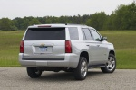 Picture of a 2016 Chevrolet Tahoe in Silver Ice Metallic from a rear right perspective