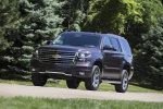 Picture of a driving 2019 Chevrolet Tahoe LT 4WD Z71 from a front left three-quarter perspective