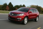 2013 Chevrolet Traverse LTZ AWD in Crystal Red Tintcoat - Driving Front Left Three-quarter View