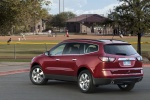 2016 Chevrolet Traverse LTZ AWD in Siren Red Tintcoat - Static Rear Left Three-quarter View