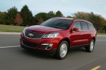 2016 Chevrolet Traverse LTZ AWD in Siren Red Tintcoat - Driving Front Left Three-quarter View