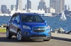 2016 Chevrolet Trax in Brilliant Blue Metallic from a front right view