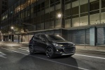 Picture of a 2018 Chevrolet Trax in Mosaic Black from a front right three-quarter perspective