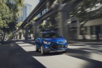 2018 Chevrolet Trax Premier in Blue - Driving Front Right View