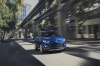 Picture of a driving 2019 Chevrolet Trax Premier in Blue from a front right perspective