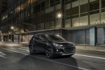 Picture of a 2019 Chevrolet Trax in Mosaic Black from a front right three-quarter perspective