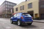 2020 Chevrolet Trax Premier in Blue - Driving Rear Left View
