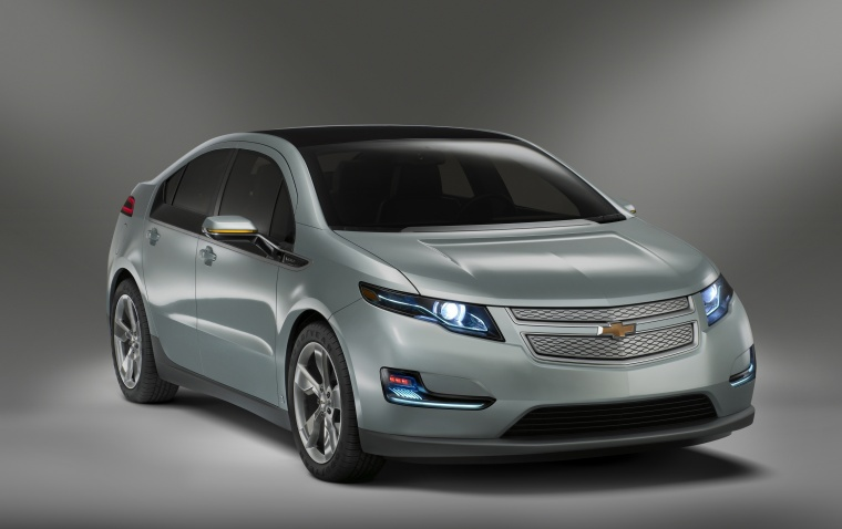 2011 Chevrolet Volt in Viridian Joule Tricoat from a front right three-quarter view
