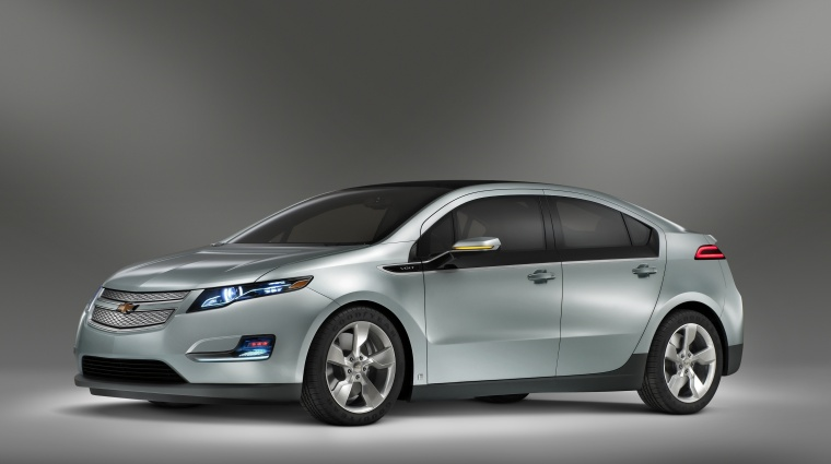 2011 Chevrolet Volt in Viridian Joule Tricoat from a left side view