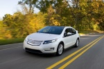 2011 Chevrolet Volt in White Diamond Tricoat - Driving Front Left View