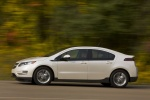 2011 Chevrolet Volt in White Diamond Tricoat - Driving Left Side View