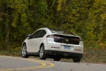 2011 Chevrolet Volt in White Diamond Tricoat - Driving Rear Left View