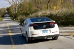 2011 Chevrolet Volt in White Diamond Tricoat - Driving Rear View
