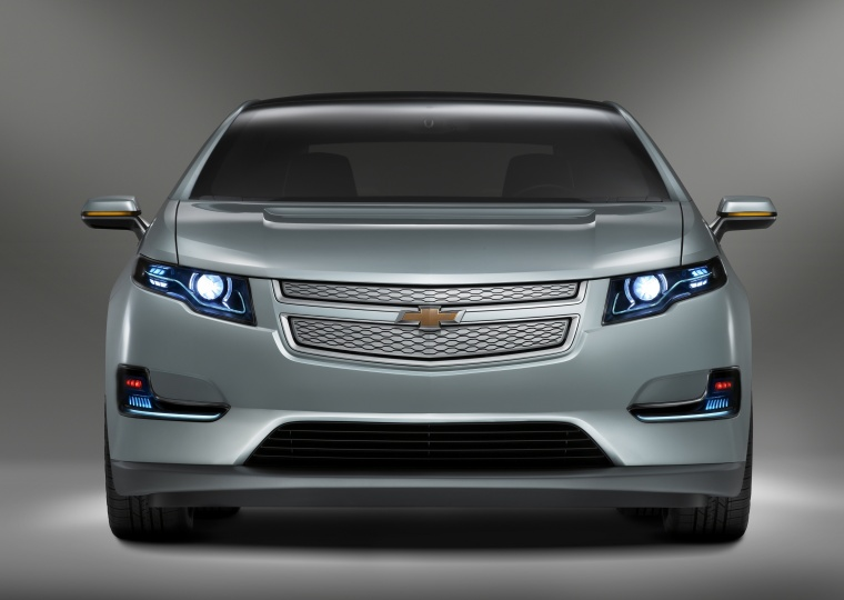 2012 Chevrolet Volt in Viridian Joule Tricoat from a frontal view