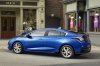 2017 Chevrolet Volt in Kinetic Blue Metallic from a rear left three-quarter view