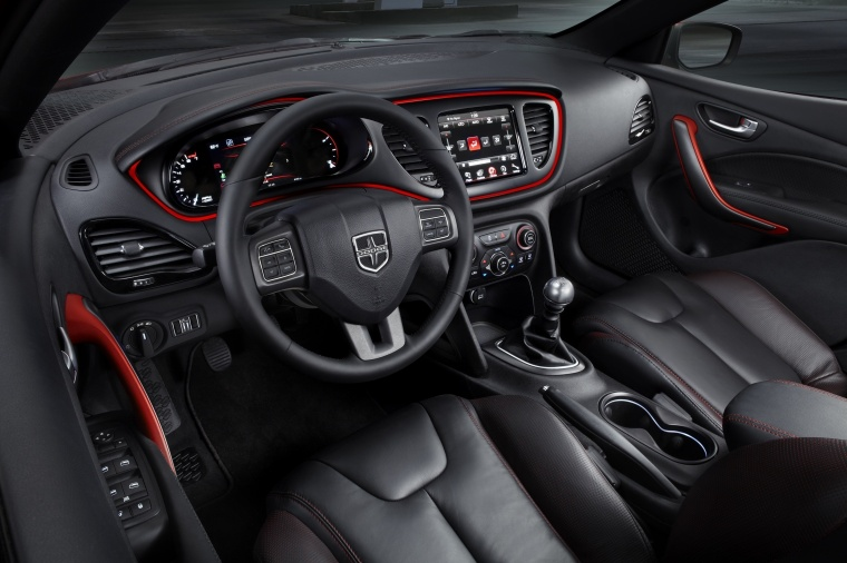 2016 Dodge Dart Sedan Interior in Black
