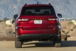 Picture of a 2014 Dodge Durango Limited AWD in Deep Cherry Red Crystal Pearlcoat from a rear perspective