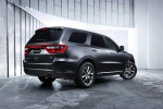 Picture of a 2014 Dodge Durango R/T in Maximum Steel Metallic Clearcoat from a rear right three-quarter perspective
